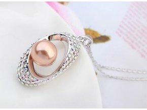 Perlový náhrdelník s retiazkou Dive