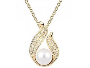 Perlový náhrdelník s retiazkou