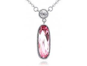 Štýlový náhrdelník s veľkým kryštálom