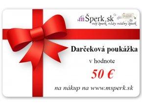 Darčeková poukážka v hodnote 50€