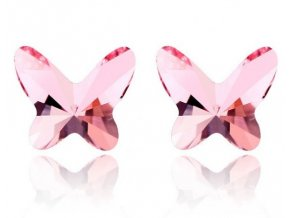 Swarovski náušnice Butterfly crystal