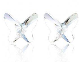 Náušnice Butterfly SW crystal
