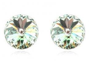 Swarovski náušnice Round crystals