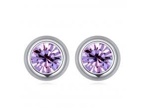 Malé napichovacie náušnice 5 mm - svetlo-fialové