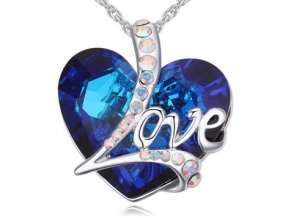"""Náhrdelník """"LOVE"""" kráľovská modrá"""