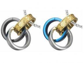 Prívesok Triple Ring 2 ks
