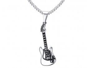 Prívesok Gitara z chirurgickej ocele strieborná farba