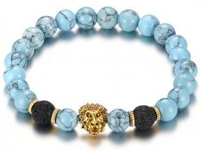 Naramok s kamenmi aquamarine