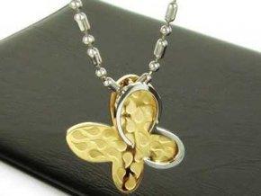 Prívesok Butterfly Gold v tvare motýľa zlatá farba