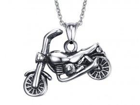 Prívesok motorka s retiazkou sivo čierna farba