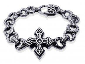Náramok z chirurgickej ocele Original s krížom
