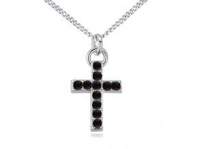 Náhrdelník krížik vykladaný kryštálikmi