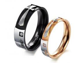 Prstene s krížom pre dvoch - 2ks