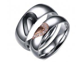 Prstene pre zaľúbených séria Srdce 2ks