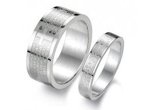 Prstene pre dvoch s modlitbou 2ks
