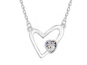 Náhrdelník v tvare srdca Crystal