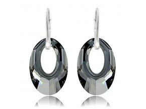 Náušnice SWI crystal 1404  Ag 925, 1,5 g