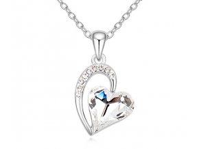 Náhrdelník srdce Crystal