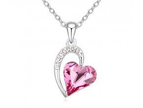 Náhrdelník srdce Crystal Rose