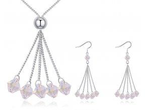 Súprava šperkov s visiacimi kryštálikmi