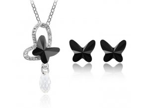Dámsky set Butterfly Black