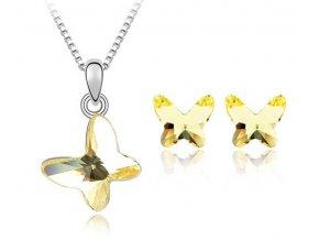Dámsky set v tvare motýľa zlatá farba