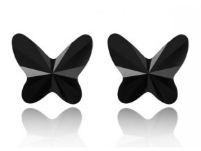 Náušnice Butterfly SW Crystal Black