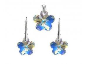 Exkluzívny set Swi Crystal Flower v tvare kvetu