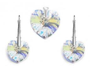 Prívesok a náušnice srdce Made with Swarovski Crystals crystal AB