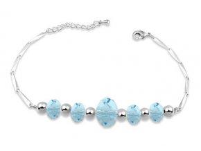 Elegantný dámsky náramok Made With Swarovski Crystals