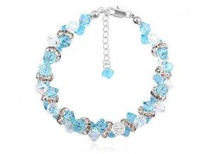 Elegantný dámsky náramok s kryštálmi Crystal Aqua