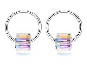 Dámske náušnice Kruhy Made With Swarovski Crystals