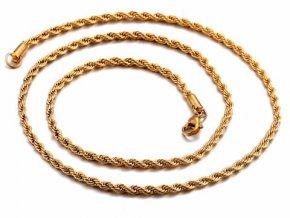 Retiazka z chirurgickej ocele Elix 55 cm - zlatá farba
