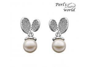 Náušnice so synt. perlou