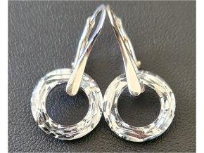 Náušnice Swarovski Crystals krúžky