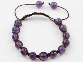 Shamballa náramok - ametyst fialový