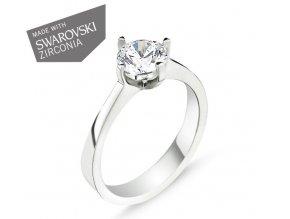 Strieborný dámsky prsteň so Swarovski zirkónmi  Striebro 925/1000: 2,4 g + RH