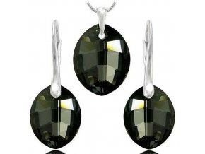 Set SWI crystal 23mm čierna farba