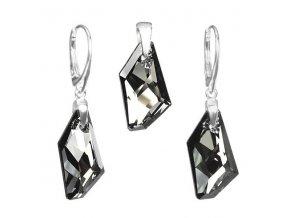 strieborny set de art crystal silver night swarovski elements