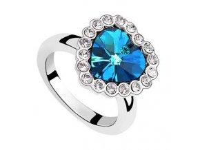 Exkluzívny prsteň SW Vykladané srdce 1655