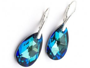 Náušnice SWAROVSKI 6106 Bermuda Blue earrings