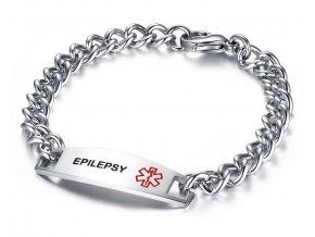 Náramok z chirurgickej ocele pre epileptika