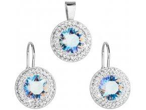 Súprava šperkov s krištáľmi Swarovski - lt. sapphire shimmer s malými zirkónikmi
