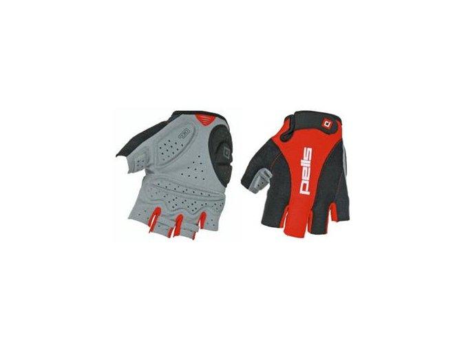 rukavice profi gel cervena cerna i26511