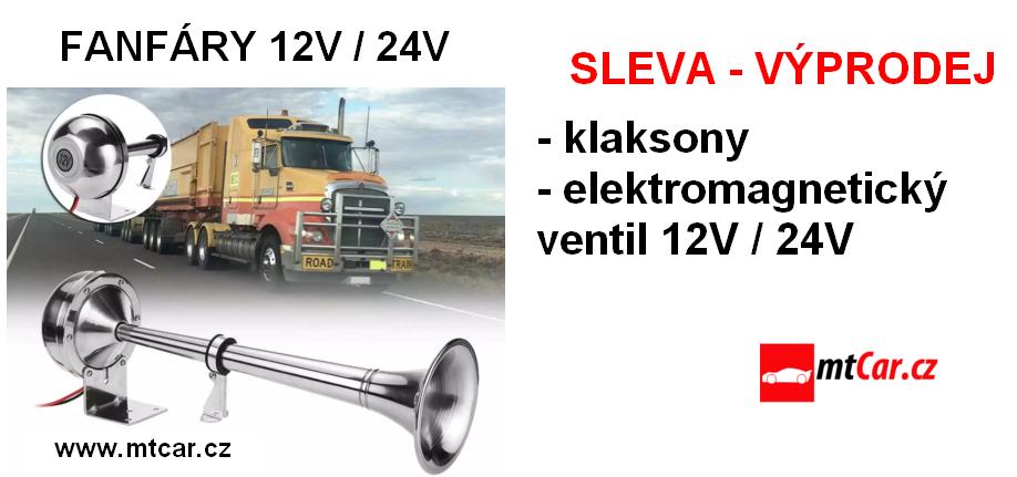 Klaksony a fanfáry 12V / 24V