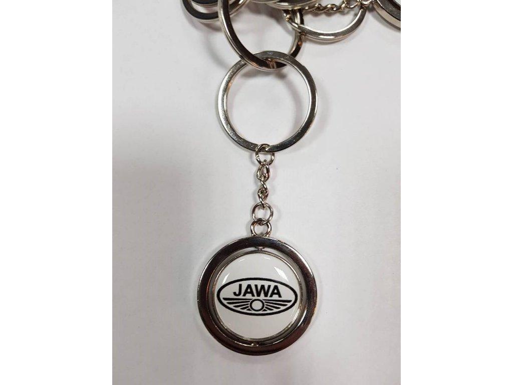 Kovová klíčenka Jawa - černá