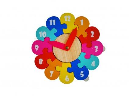 Dřevěné hodiny - puzzle