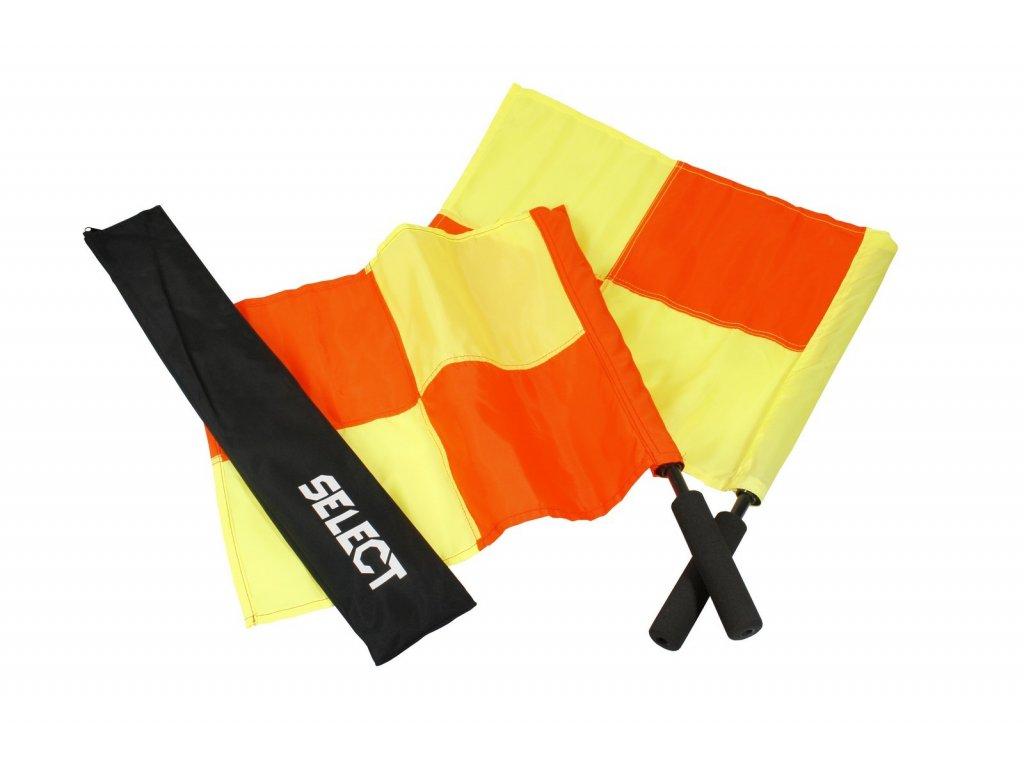 Praporky pomezní rozhodčí Select Linesman´s flag Pro 2 ks červeno žlutá
