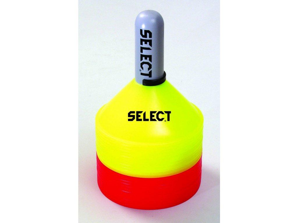 Značící kužely Select Marker set 24 ks včetně držáku červeno žlutá