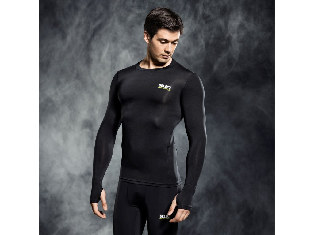 Kompresní triko Select Compression T-shirt L/S 6902 černá